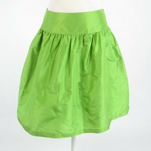 Lilly Pulitzer green silk A-line skirt 4